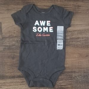 Carter's Babygirl 18M Awesome Like Auntie Bodysuit